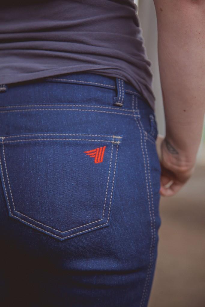 Worse for Wear Crosstown Jeans Back Pocket | RIDEWELL