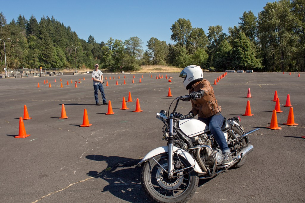 Working on my enclosed figure eight at the NW Moto School | RIDEWELL