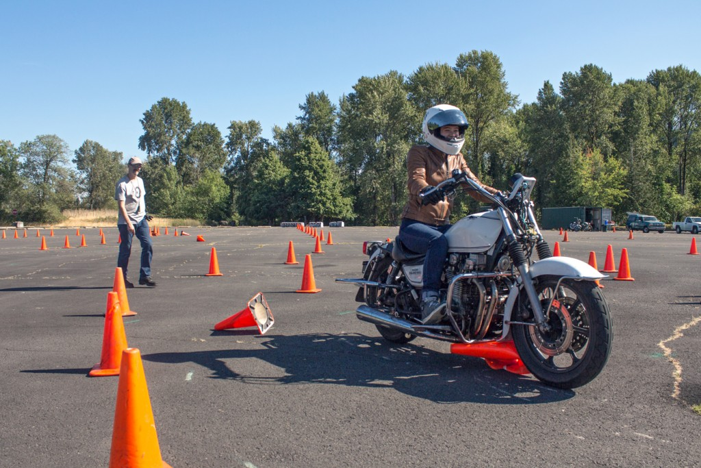 Dragging a cone at the NW Moto School | RIDEWELL
